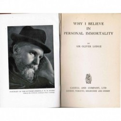 Why I Believe in Personal Immortality (1928)