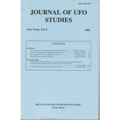 Journal of UFO Studies, New Series, Vol. 8